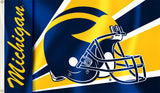 Michigan Wolverines 3' x 5' Flag (Winged Football Helmet) NCAA