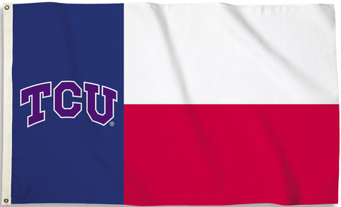 TCU Horned Frogs 3' x 5' Flag (State Of Texas) NCAA
