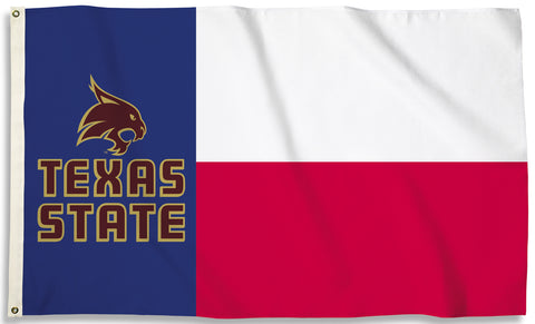Texas State Bobcats 3' x 5' Flag (State Of Texas) NCAA