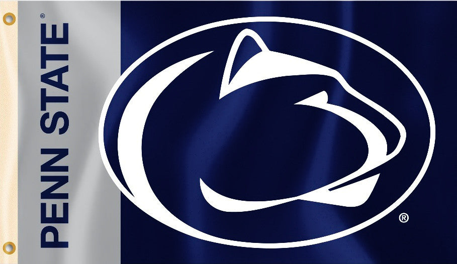Penn State Nittany Lions 3' x 5' Flag (Logo with Wordmark) NCAA