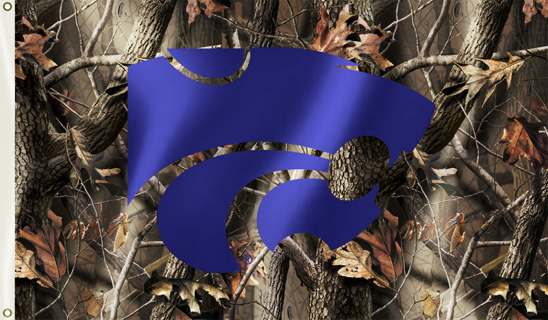 Kansas State Wildcats 3' x 5' Flag (Realtree Camo) NCAA