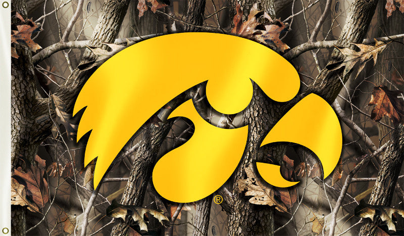 Iowa Hawkeyes 3' x 5' Flag (Realtree Camo) NCAA