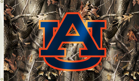 Auburn Tigers 3' x 5' Flag (Realtree Camo) NCAA