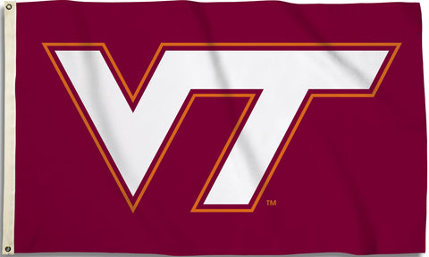 Virginia Tech Hokies 3' x 5' Flag (Logo Only on Maroon) NCAA