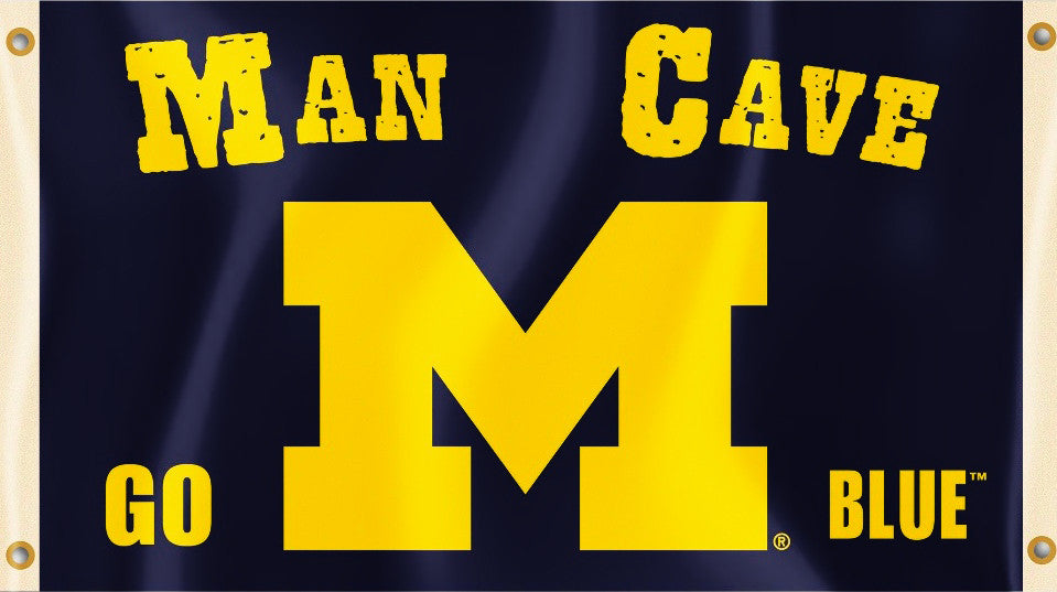 Michigan Wolverines 3' x 5' Flag (Man Cave) NCAA