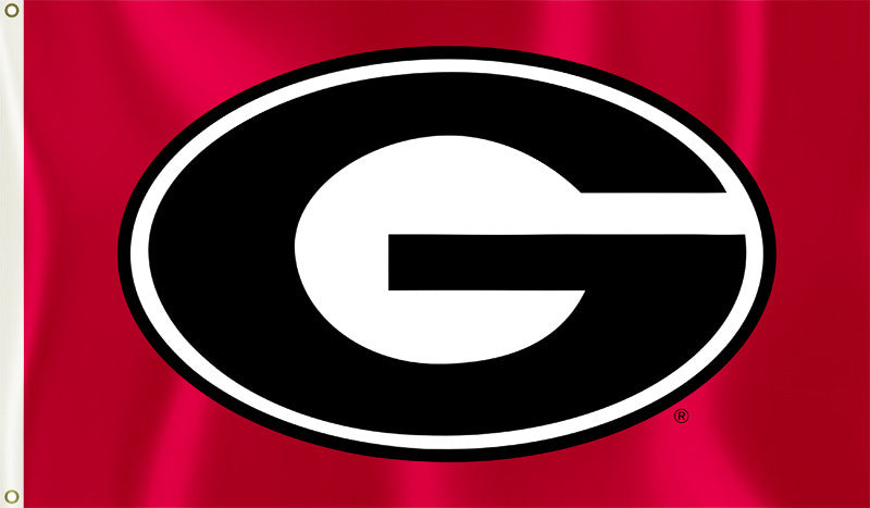 "Georgia Bulldogs 3' x 5' Flag (""G"" Logo Only on Red) NCAA"