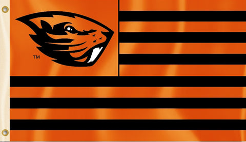 Oregon State Beavers 3' x 5' Flag (Stripes) NCAA