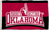 Oklahoma Sooners 3' x 5' Flag (There's Only One Oklahoma) NCAA