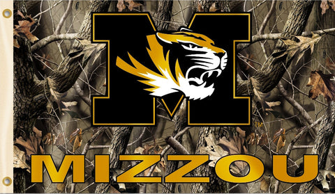 Missouri Tigers 3' x 5' Flag (Realtree Camo) NCAA