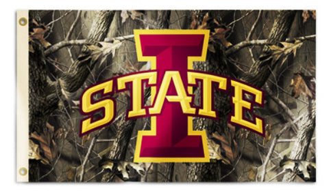 Iowa State Cyclones 3' x 5' Flag (Realtree Camo) NCAA