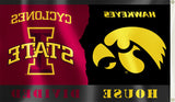 Iowa Hawkeyes Iowa State Cyclones 3' x 5' House Divided Flag NCAA