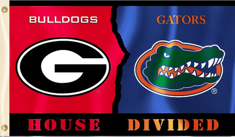 Florida Gators Georgia Bulldogs 3' x 5' House Divided Flag NCAA