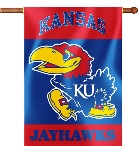 "Kansas Jayhawks 28"" x 40"" Two Sided House Banner NCAA"