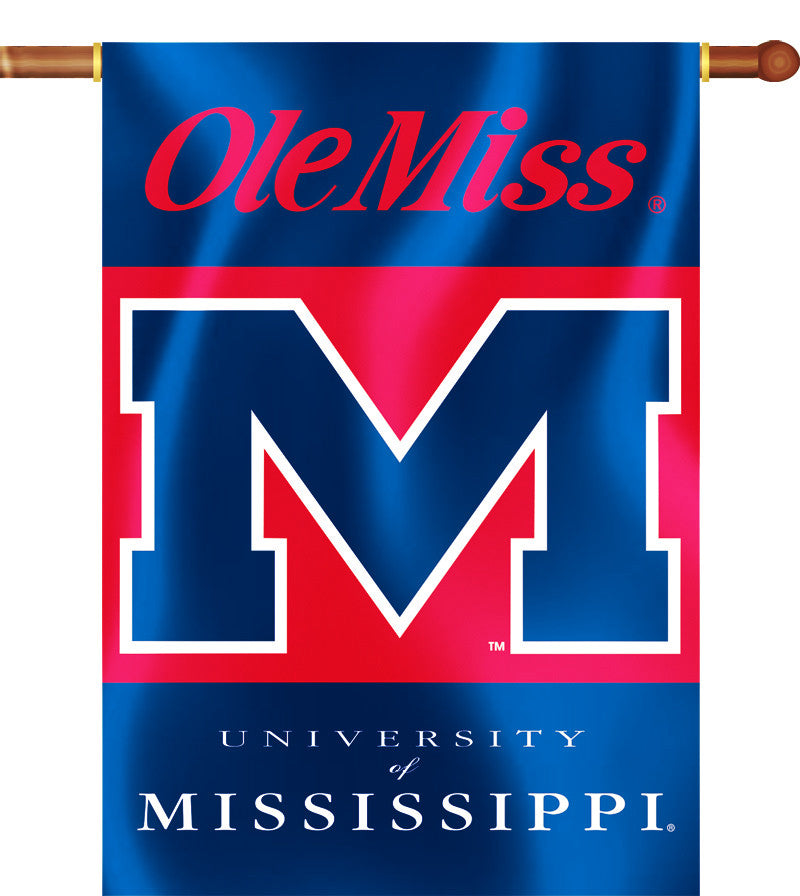 "Ole Miss Rebels 28"" x 40"" Two Sided House Banner NCAA"