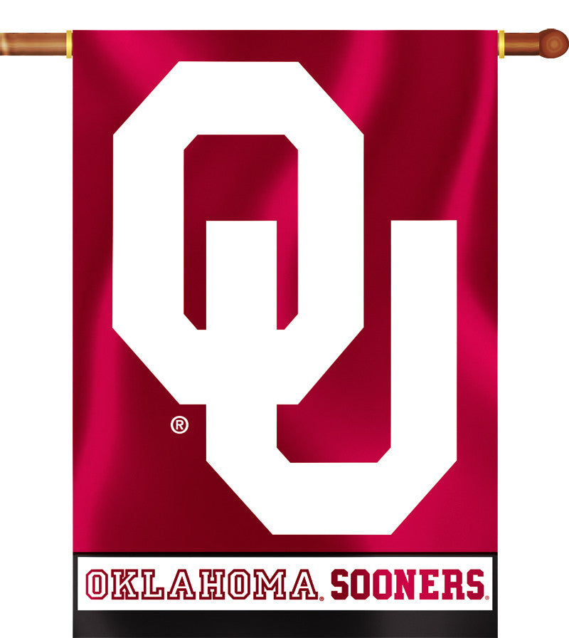 "Oklahoma Sooners 28"" x 40"" Two Sided House Banner NCAA"