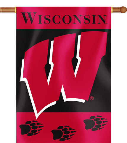 "Wisconsin Badgers 28"" x 40"" Two Sided House Banner NCAA"