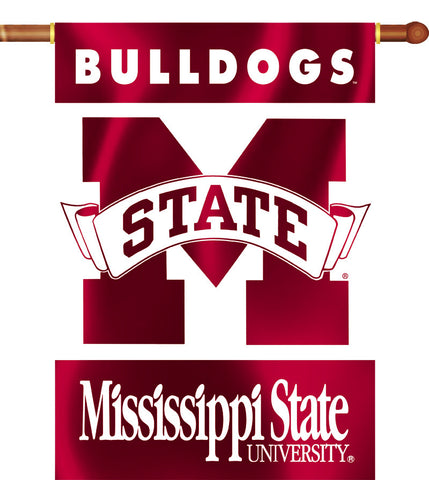 "Mississippi State Bulldogs 28"" x 40"" Two Sided House Banner NCAA"