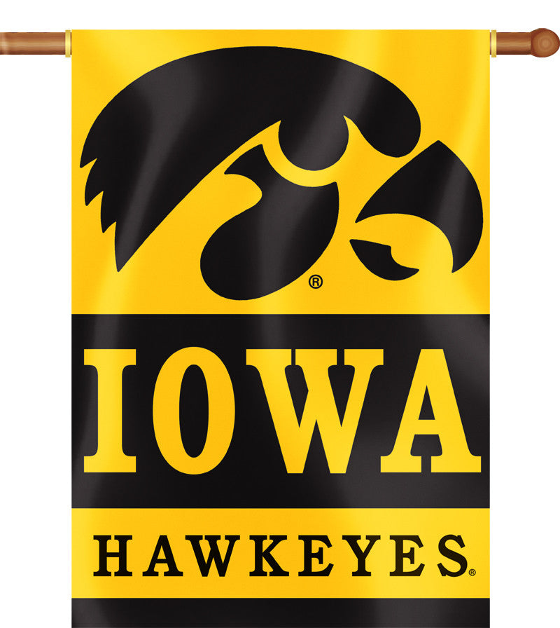 "Iowa Hawkeyes 28"" x 40"" Two Sided House Banner NCAA"