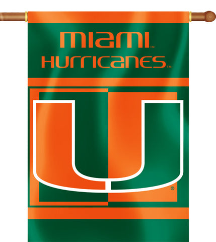 "Miami Hurricanes 28"" x 40"" Two Sided House Banner (NCAA)"