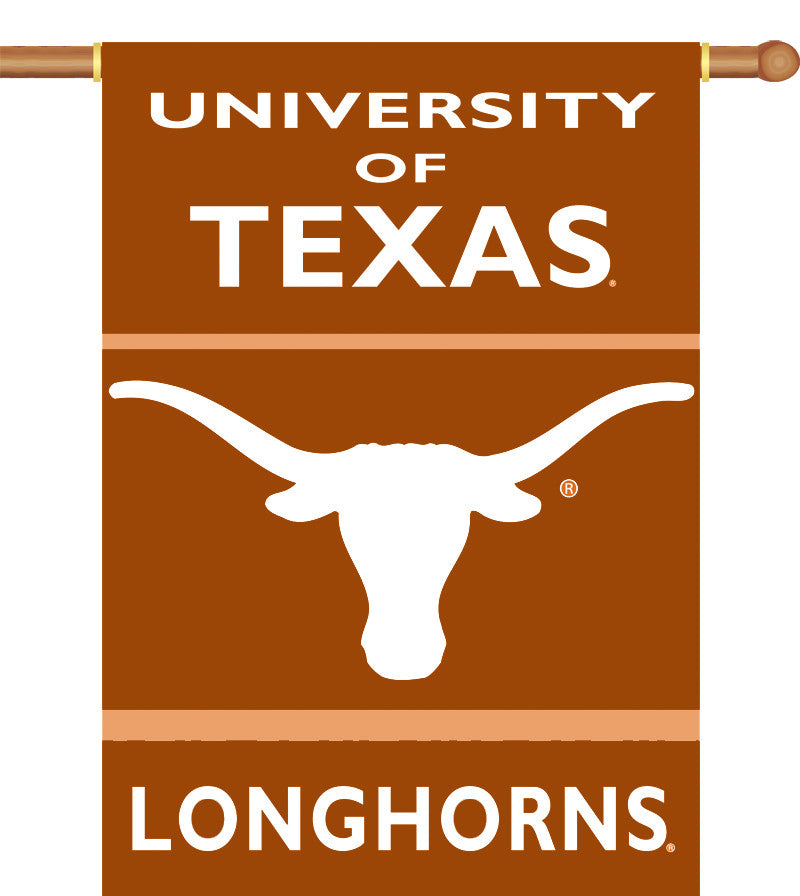"Texas Longhorns 28"" x 40"" Two Sided House Banner NCAA"