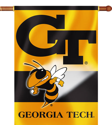 "Georgia Tech Yellowjackets 28"" x 40"" Two Sided House Banner NCAA"