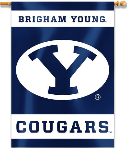 "BYU Cougars 28"" x 40"" Two Sided House Banner NCAA"