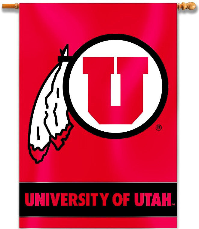 "Utah Utes 28"" x 40"" Two Sided House Banner NCAA"
