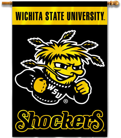 "Wichita State Shockers 28"" x 40"" Two Sided House Banner NCAA Licensed"