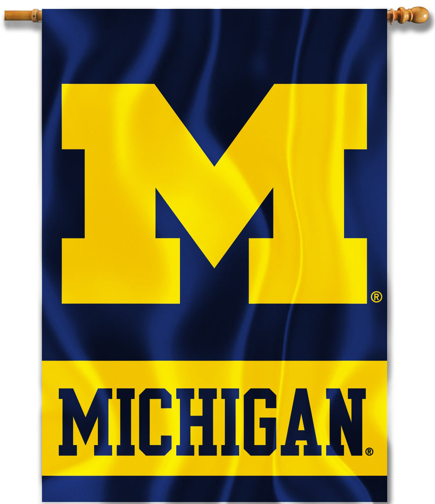 "Michigan Wolverines 28"" x 40"" Two Sided House Banner NCAA"