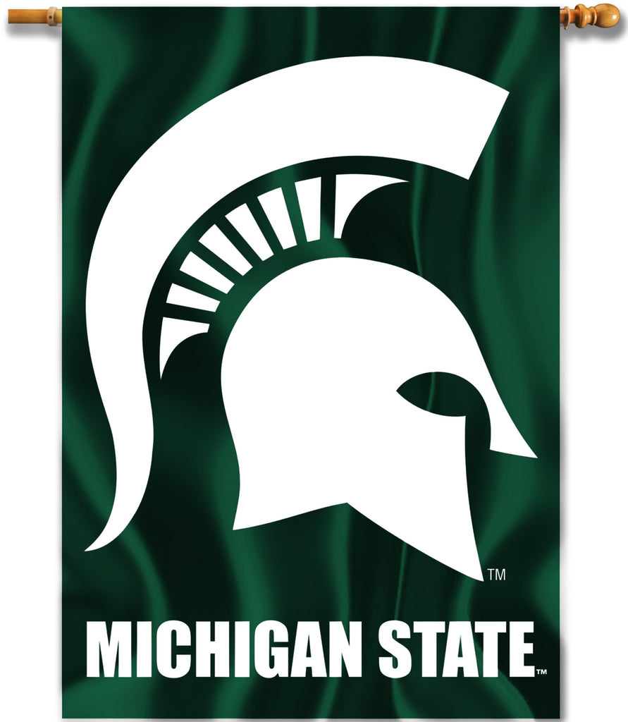 "Michigan State Spartans 28"" x 40"" Two Sided House Banner NCAA"