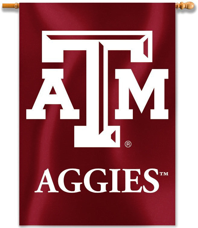 "Texas A&M Aggies 28"" x 40"" Two Sided House Banner (Logo) NCAA"
