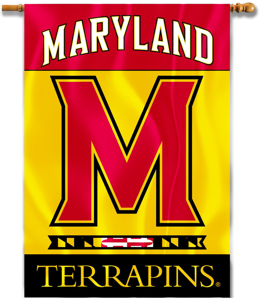 "Maryland Terrapins 28"" x 40"" Two Sided House Banner NCAA"