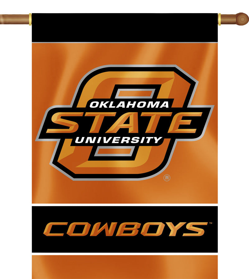 "Oklahoma State Cowboys 28"" x 40"" Two Sided House Banner NCAA"