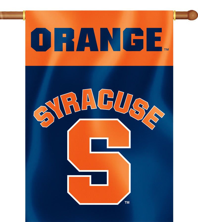 "Syracuse Orange 28"" x 40"" Two Sided House Banner NCAA"