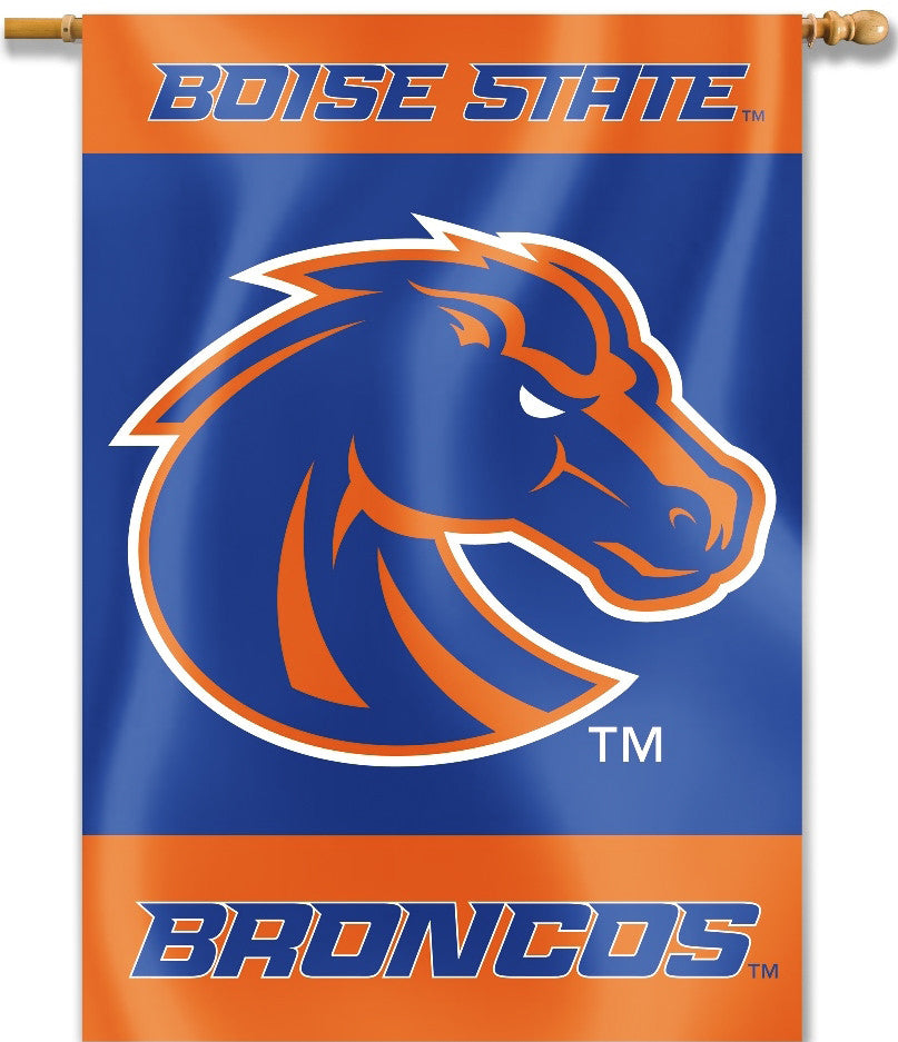 "Boise State Broncos 28"" x 40"" Two-Sided House Banner NCAA"