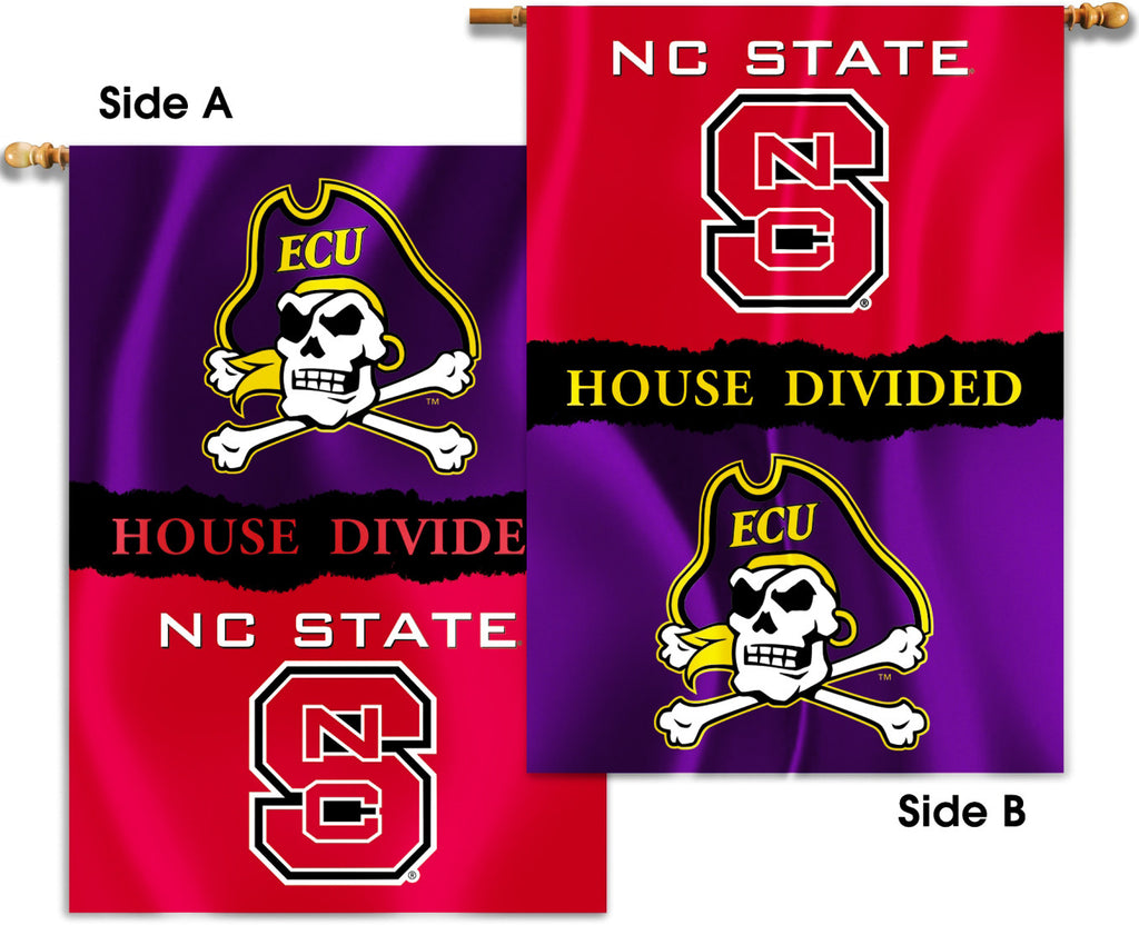 "ECU Pirates NC State Wolfpack 28"" x 40"" Two Sided House Divided Banner (NCAA)"