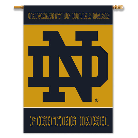 "Notre Dame Fighting Irish 28"" x 40"" Two-Sided House Banner (""ND"") NCAA"