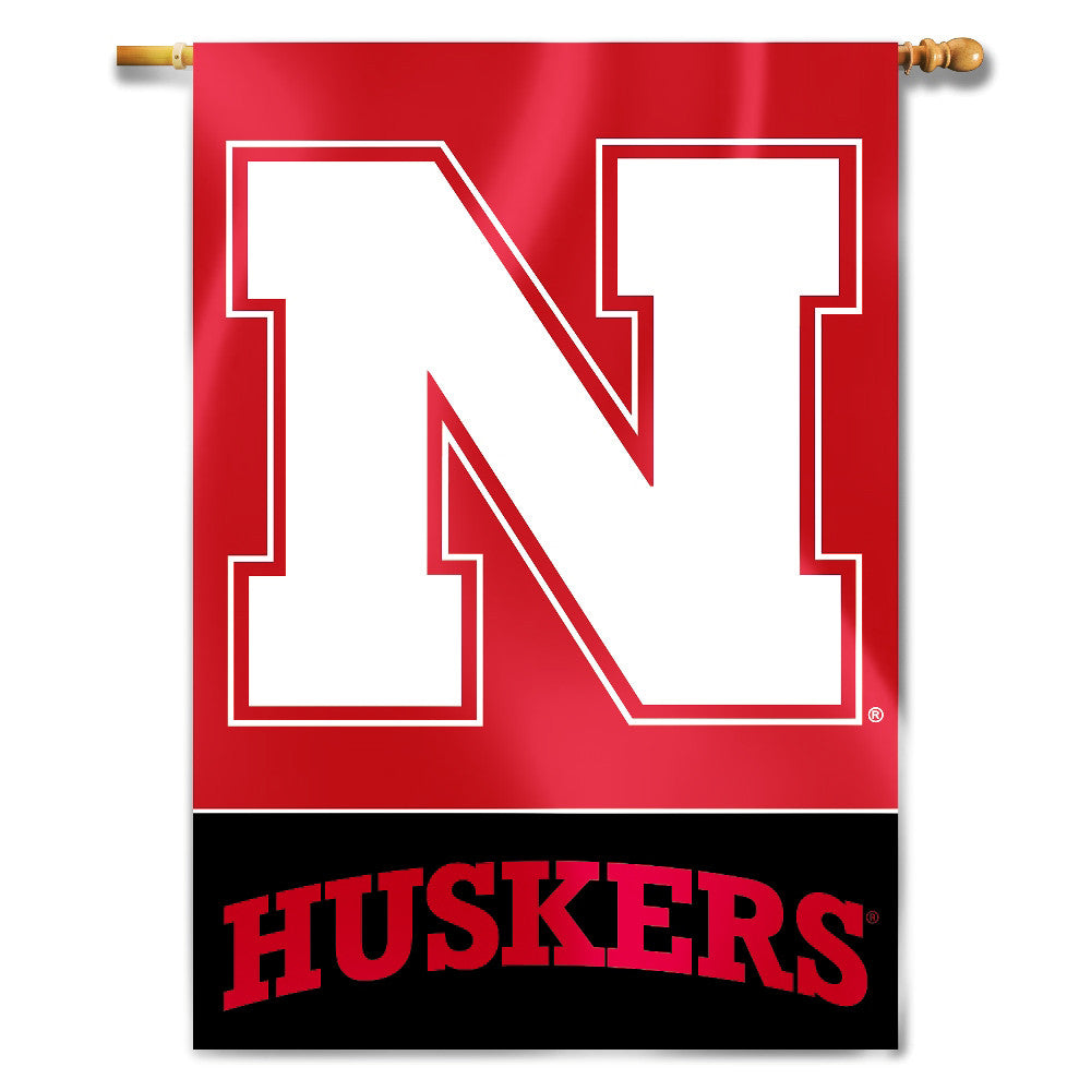 "Nebraska Cornhuskers 28"" x 40"" Two Sided House Banner (Logo) NCAA"