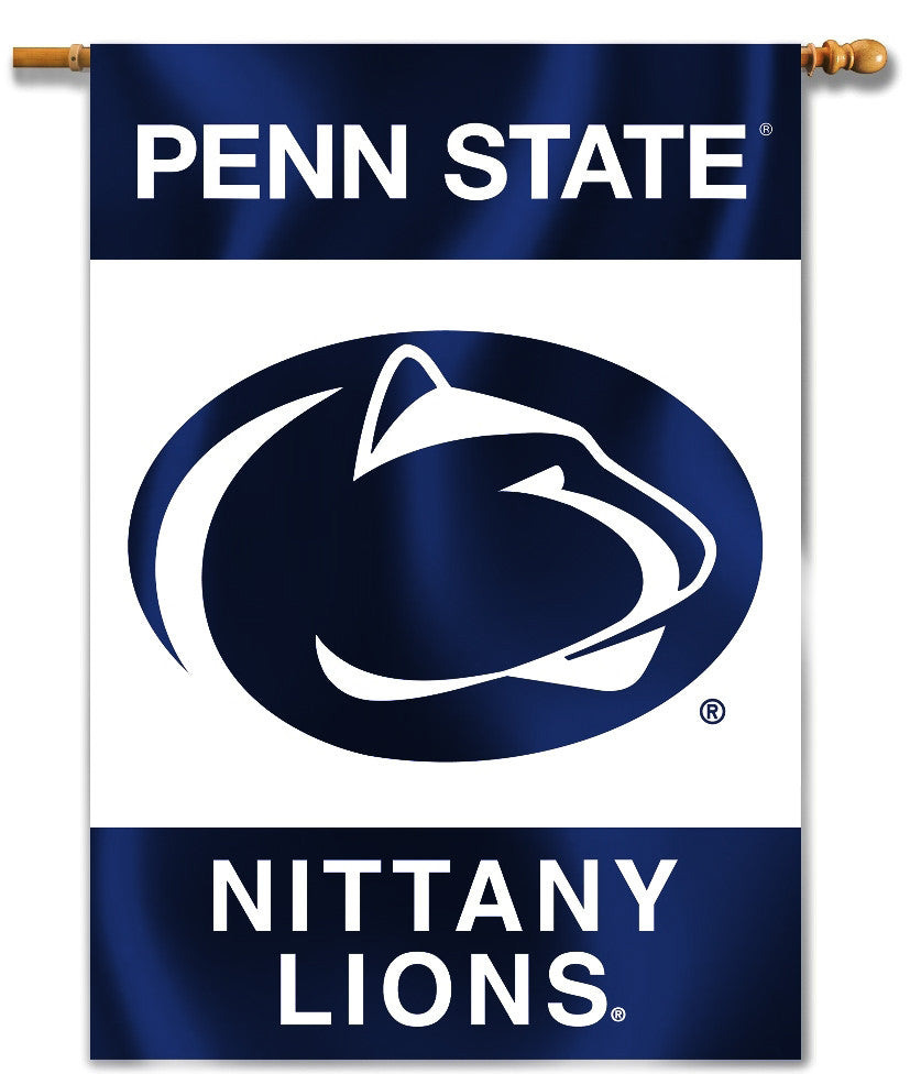 "Penn State Nittany Lions 28"" x 40"" Two Sided House Banner (Logo) NCAA"