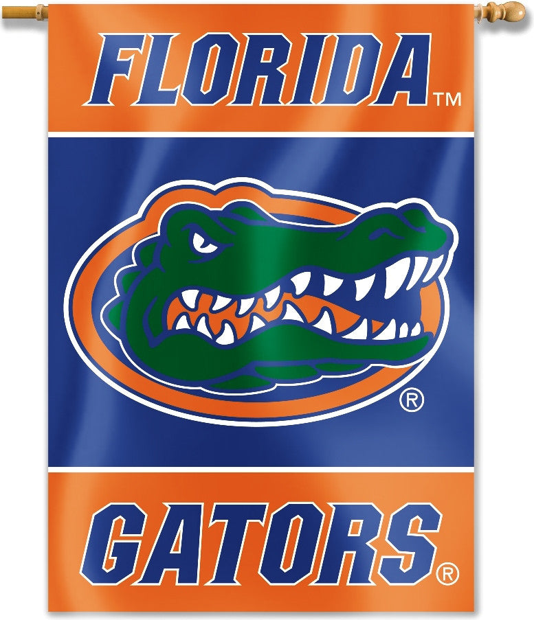 "Florida Gators 28"" x 40"" Two Sided House Banner (Gator Logo) NCAA"