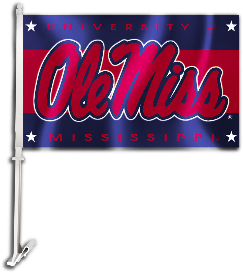 "Ole Miss Rebels 11"" x 18"" Two Sided Car Flag NCAA"