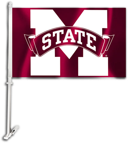 "Mississippi State Bulldogs 11"" x 18"" Two Sided Car Flag NCAA"