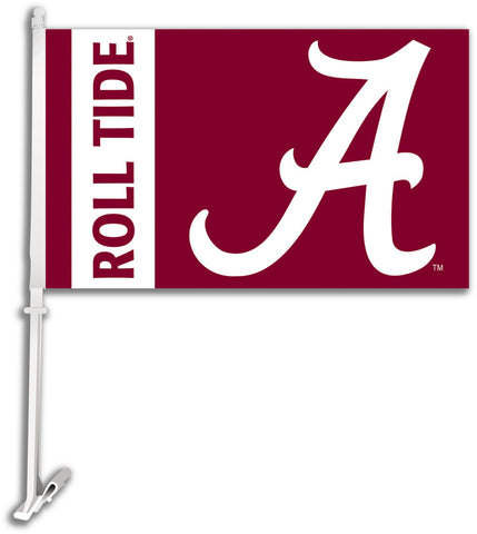 "Alabama Crimson Tide 11"" x 18"" Two-Sided Car Flag (""A"" Roll Tide) NCAA"