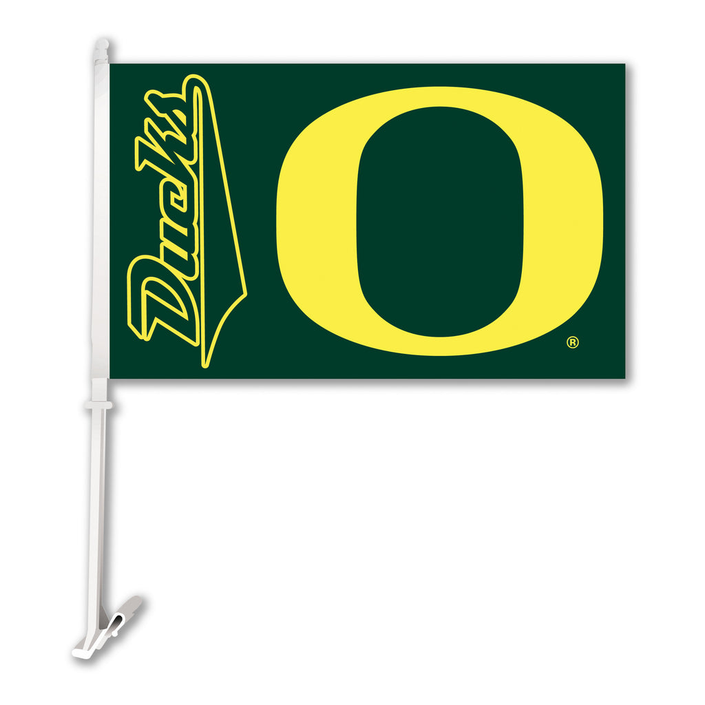 "Oregon Ducks 11"" x 18"" Two Sided Car Flag NCAA"