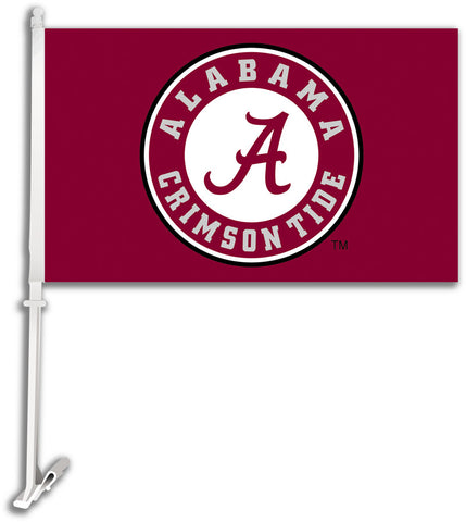 "Alabama Crimson Tide 11"" x 18"" Two-Sided Car Flag (Athletic Seal) NCAA"