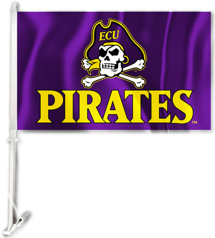 "East Carolina Pirates 11"" x 18"" Two-Sided Car Flag (ECU Logo) NCAA"