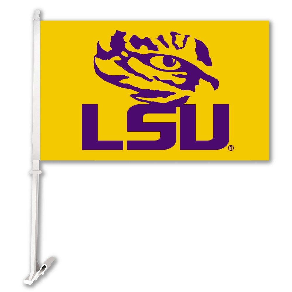 "LSU Tigers 11"" x 18"" Two-Sided Car Flag (Eye of the Tiger) NCAA"