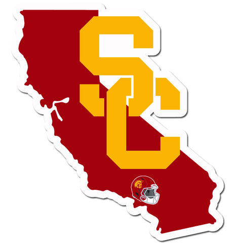 USC Trojans Home State Vinyl Auto Decal (NCAA) California Shape