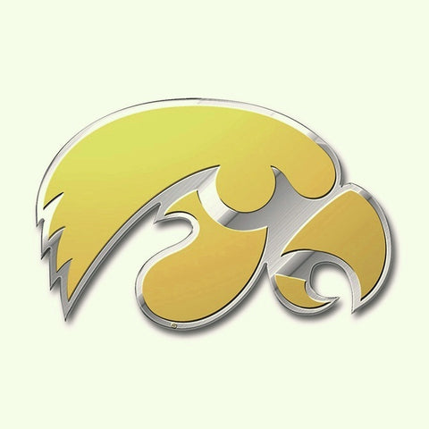 Iowa Hawkeyes Auto or Hard Surface Team Emblem Decal NCAA