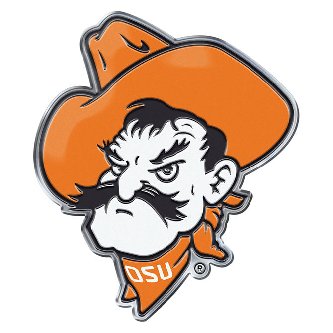 Oklahoma State Cowboys Pistol Pete Auto or Hard Surface Emblem Decal NCAA